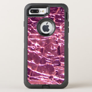 Crackled Glass Birthstone October Pink Tourmaline OtterBox Defender iPhone 8 Plus/7 Plus Case