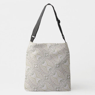 Crackled Glass Swirl Design - Diamond Crossbody Bag
