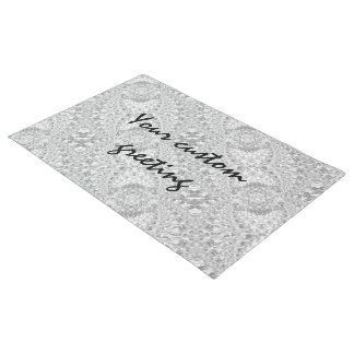 Crackled Glass Swirl Design - Diamond Doormat
