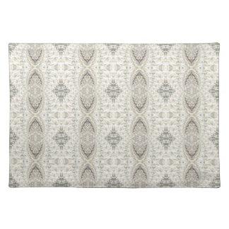 Crackled Glass Swirl Design - Diamond Placemat