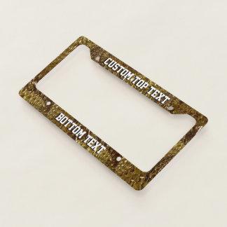 Crackled Glass Swirl Design - Topaz License Plate Frame