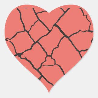 Cracks Heart Sticker