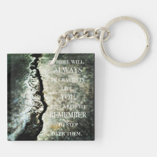 Cracks in life Double-Sided square acrylic keychain
