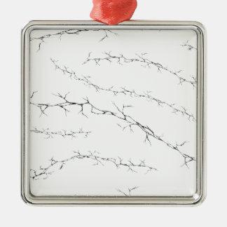 Cracks Metal Ornament