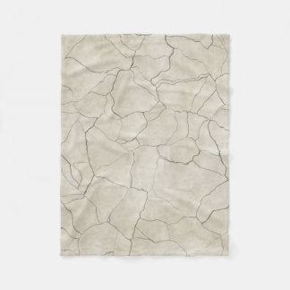 Cracks on Beige Textured Background Fleece Blanket