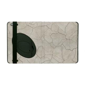 Cracks on Beige Textured Background iPad Folio Case