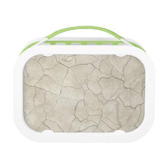 Cracks on Beige Textured Background Lunch Box
