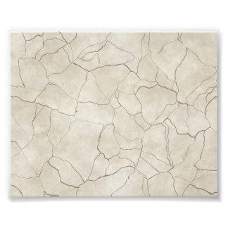 Cracks on Beige Textured Background Photo Print