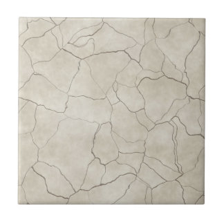 Cracks on Beige Textured Background Tile