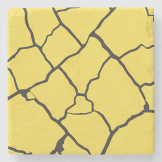 Cracks  Preto Stone Beverage Coaster
