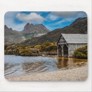 Cradle Mountain boat shed, Tasmania mouse mat Mouse Pad