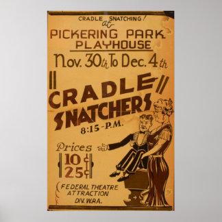 Cradle Snatchers Vintage WPA Theatre Poster