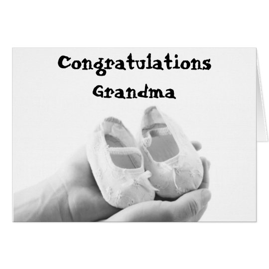 Cradled Baby Shoes Card