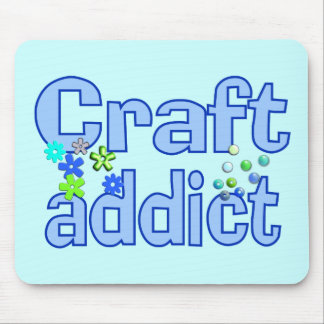 Craft Addict Beads Design Gift Mouse Pad