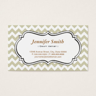 Craft Artist - Chevron Simple Jasmine Business Card