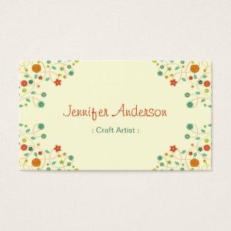 Craft Artist - Chic Nature Stylish Business Card