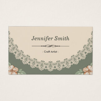 Craft Artist - Vintage Chic Floral Business Card
