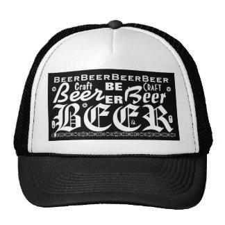 Craft Beer, Black & White 3 Trucker Hat