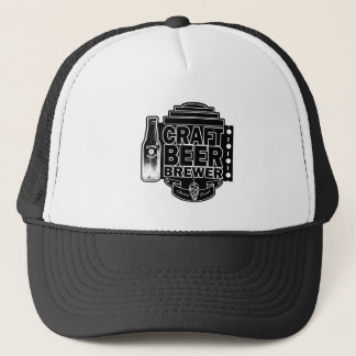 Craft Beer Brewer - Black & White Logo Trucker Hat