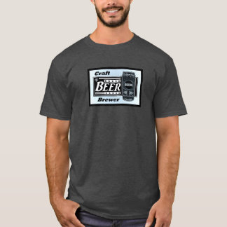 Craft Beer Brewer - Blue Black & White Can Stars T-Shirt