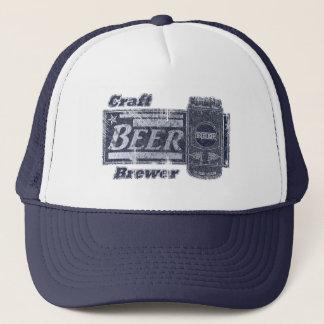 Craft Beer Brewer - Blue & White Can Worn Look Trucker Hat