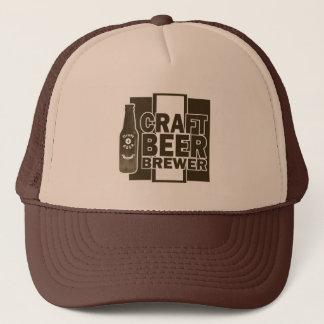 Craft Beer Brewer - Brown & White Logo Trucker Hat