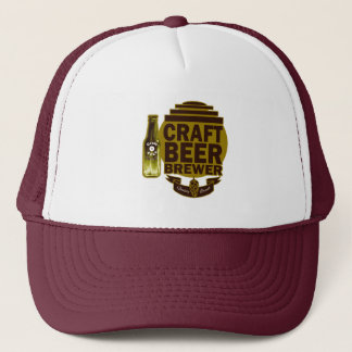 Craft Beer Brewer - Burgundy/Gold Logo Trucker Hat