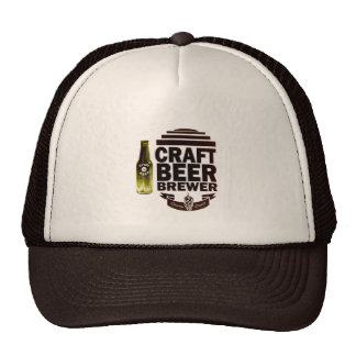 Craft Beer Brewer - Burgundy Logo Trucker Hat