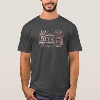 Craft Beer Brewer - Burgundy & White Can Worn Look T-Shirt