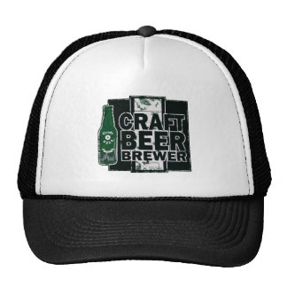 Craft Beer Brewer - Green & Black Worn Logo Trucker Hat