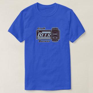 Craft Beer Brewer - Lite Blue & Black Can T-Shirt