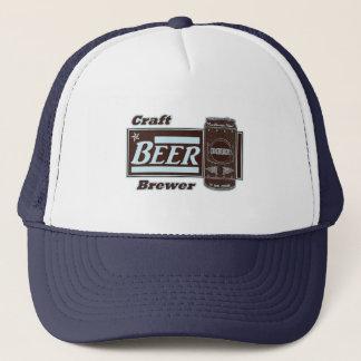 Craft Beer Brewer - Lite Blue & Black Can Trucker Hat
