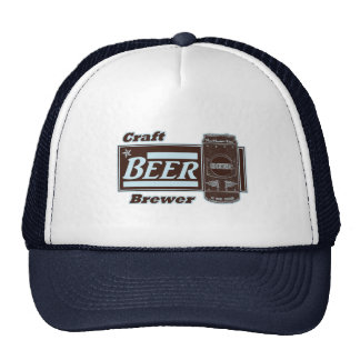 Craft Beer Brewer - Lite Blue & Black Can Trucker Hat