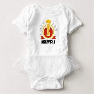 Craft Beer Brewery Logo Design Template Baby Bodysuit