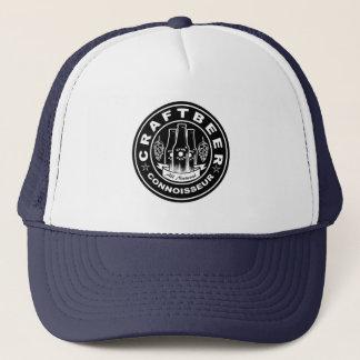 Craft Beer Connoisseur Black & White Hops Trucker Hat