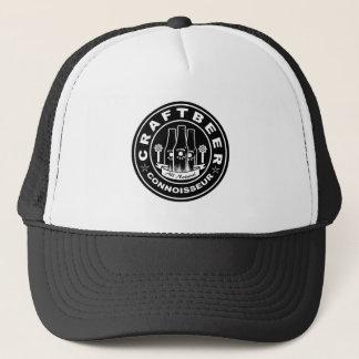 Craft Beer Connoisseur Black & White Trucker Hat