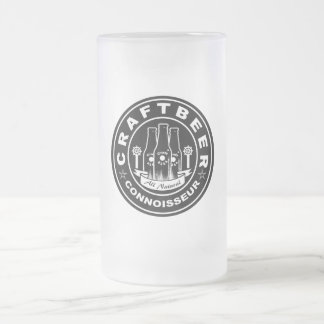 Craft Beer Connoisseur Frosted Glass Beer Mug