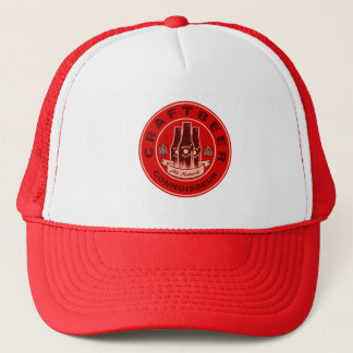 Craft Beer Connoisseur Red Trucker Hat