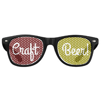 Craft Beer Darkred/Gold Lens Party Sunglasses