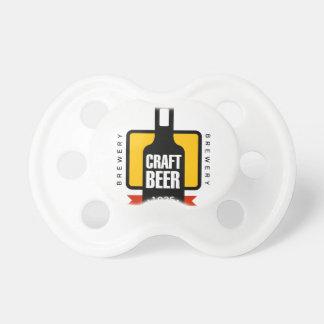 Craft Beer Logo Design Template Pacifier
