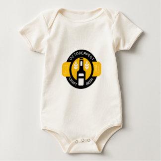 Craft Beer Logo Design Template With Bottle Baby Bodysuit