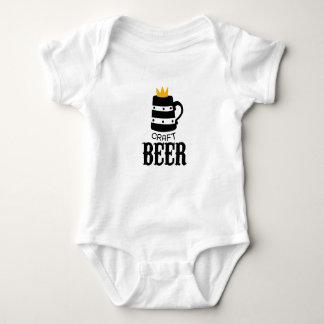 Craft Beer Logo Design Template With Crown Baby Bodysuit