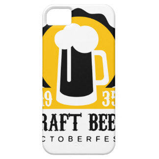 Craft Beer Logo Design Template With Pint Case For The iPhone 5