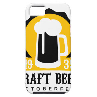 Craft Beer Logo Design Template With Pint iPhone 5 Covers
