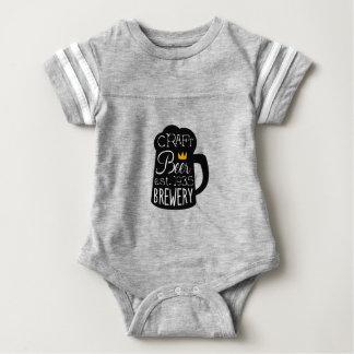 Craft Beer Logo Design Template With Pint Silhouet Baby Bodysuit