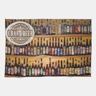 craft beer mens kitchen hand towel