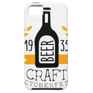 Craft Beer Oktoberfest Logo Design Template iPhone 5 Case