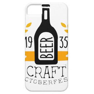 Craft Beer Oktoberfest Logo Design Template iPhone 5 Cover