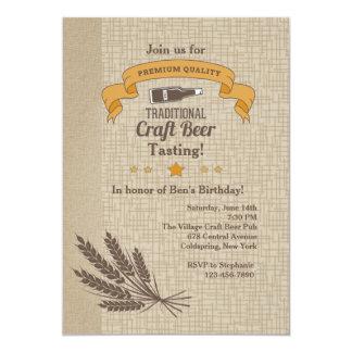 "Craft Beer Tasting Invitation 5"" X 7"" Invitation Card"