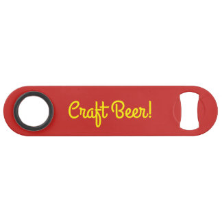 Craft Beer - Yellow Red Black Speed Bottle Opener